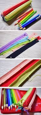 creative diy projects with zippers zipper pencil case easy crafts and fashion ideas with