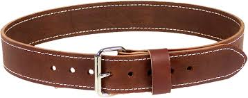 extra heavy duty work belt constructed of bridle leather custom tanned to our specifications in the usa