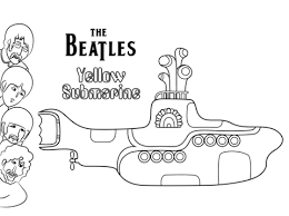 The Beatles Yellow Submarine Platenhoes Kleurplaat Gratis