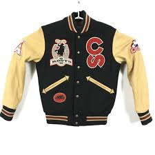 roots canada wool leather varsity jacket men s small calgary stampede 100 years