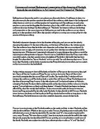 compare and contrast shakespeare s presentation of the character page 1 zoom in