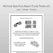 Free Printable Flyer Templates Word Awesome Editable Mother Son Dance Word And Pages Flyer Template And Etsy