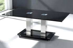 black glass coffee table. Coffee Tables » Trinity Table Black Glass C