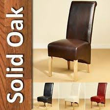 faux leather high back chairs. leather dining chairs scroll high back tall oak legs furniture brown black ivory faux
