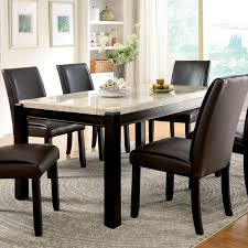 marble top dining room table. Furniture Of America Joreth Genuine Marble Top Dining Table - Walnut Room N