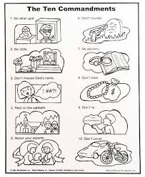10 Commandments Coloring Pages Catholic Co Op Sunday School Kids
