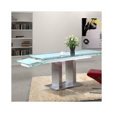 Table Verre Pied Central