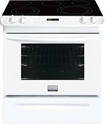 white slide in electric range black ffes26tb ge 30 self cleaning convection