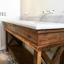 barnwood bathroom vanity barn door reclaimed wood with plans 5