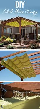 pergola 50p. learn how to make a slidewire canopy with free howto video instructions pergola 50p