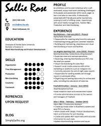 Resume Simply Sallie