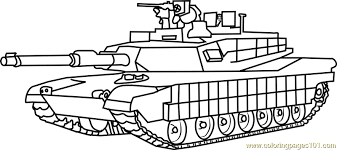 Small Picture M1 Abrams Army Tank Coloring Page Free Tanks Coloring Pages