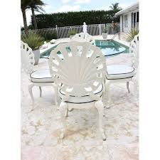 Distinguished Brown Jordan Grotto Shell Back Chairs and Round