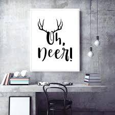 deer wall art oh deer wall art poster funny antlers print canvas art painting wall deer deer wall art