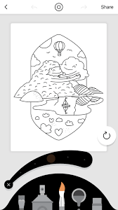 Lake Coloring Booksの使い方塗り絵アプリhoronblog