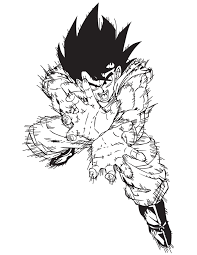 Small Picture Dragon Ball Goku Fireball Coloring Page H M Coloring Pages