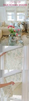 Roman Blind Diy Best 25 Faux Roman Shades Ideas On Pinterest Kitchen Curtains