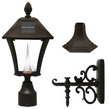 gama sonic baytown solar outdoor led light fixture polepostwall mount kit black finish gs106fpwb amazonca patio lawn u0026 garden outdoor light fixtures i94