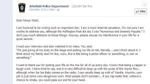 Police Officer Writes Open Letter To Kanye West Page 2 Lipstick