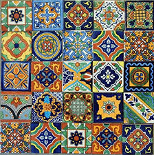Colonial Patterns Amazing Amazon Mexican Tiles Mix Box Of 48 Talavera Tiles Hand Painted