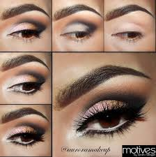 pink gold smoky eye makeup tutorial with motives