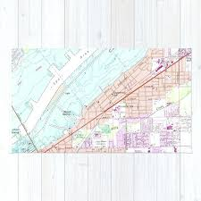 vintage map of fort rug area rugs myer myers