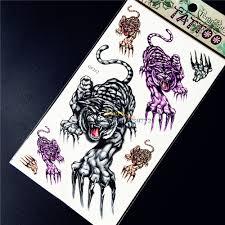 526 руб крутой мужской женский временный боди арт тату стикер ужасные тигры лапы