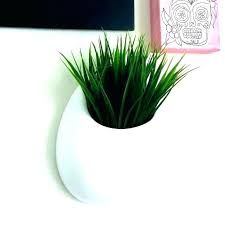 modern wall planter white pocket ceramic round vertical planters indoor galvanized metal australia ideas