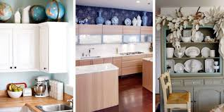 ... Design Ideas For The Space Above Kitchen Cabinets Decorating ...
