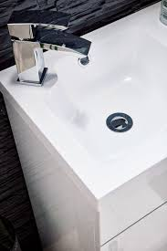 Sink And Toilet Combo 900 L Shaped White Gloss Bathroom Combination Unit Inc Toilet
