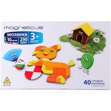 Купить Магнитная <b>мозаика</b> Magneticus ( 290 элементов, 10 ...