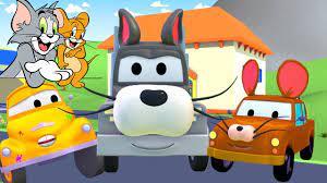 Tom và Jerry - cửa hàng sơn của Tom 🎨 l những bộ phim hoạt hình về xe -  YouTube