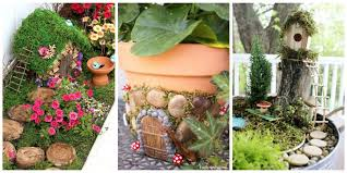 Small Picture 12 DIY Fairy Garden Ideas How to Make a Miniature Fairy Garden