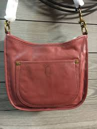 frye campus rivet cross burnt red leather handbag db076