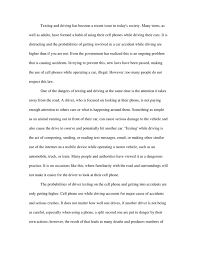 essay on texting while driving is dangerous docoments ojazlink texting and driving essays docoments ojazlink