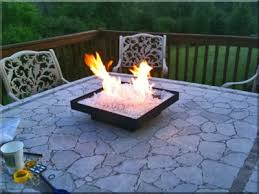 convert outdoor tables into fire tables