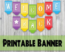 printable welcome home banner template welcome back banner etsy