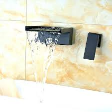 wall mount bath sink faucets waterfall tub filler wall mount single handle wall mounted oil rubbed