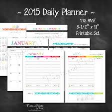 Calendar Planner Printable 2015 Happy 2015 Printable Daily Planner Calendar