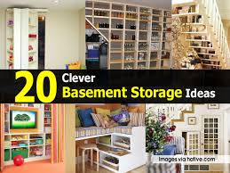 unfinished basement storage ideas. 20 Clever Basement Storage Ideas. Ideas Unfinished