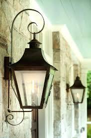 exterior lantern lighting. Gas Lamp Lantern Exterior Lights French Lanterns With Copper Curls Lighting