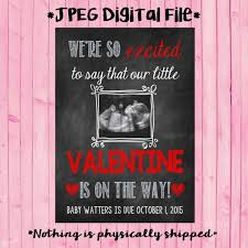 valentines day pregnancy announcement cards valentines day pregnancy announcement card etsy