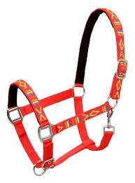 Pferdehalfter 2 Stück Nylon Größe Vollblut Rot