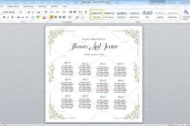 Microsoft Seating Chart Wedding Seating Chart Poster Microsoft Change Details Open