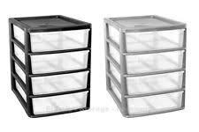 plastic storage drawers. 4 DRAWER PLASTIC STORAGE - A4 SLIM -HOME -OFFICE -BEDROOM IN SILVER Plastic Storage Drawers