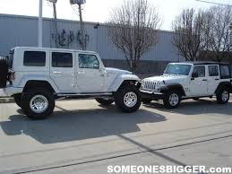 jeep unlimited lifted jeep wrangler jk unlimited white hard top vs stock jk unlimited