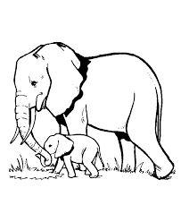 Lets make the elephant pink, or purple? Elephants Free To Color For Children Elephants Kids Coloring Pages