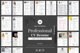 Big Bundle Professional Cv Resume Graphic By Peterdraw Creative Fabrica