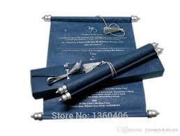 navy scroll wedding invitations card whole party wedding caroon blue silk luxury royal wedding invitations with box in 2018 sle wedding invitations