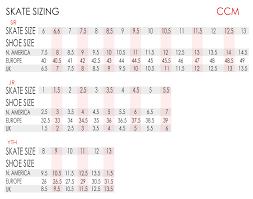Bauer Vapor Size Chart 69 Judicious Ccm Skate Size Chart Width